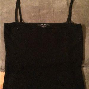 Theory black cashmere silk tank top medium